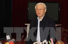 Tổng Bí thư Nguyễn Phú Trọng thăm, làm việc tại tỉnh Nam Định