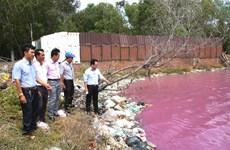 Bà Rịa-Vũng Tàu: Hiện tượng hồ nước đổi màu do tảo nở hoa