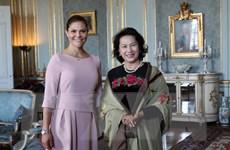 Chủ tịch Quốc hội chào xã giao Công chúa kế vị của Thụy Điển