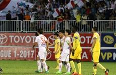 Kết thúc vòng 12 V-League 2017: FLC Thanh Hóa vươn lên dẫn đầu