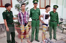 Bắt giữ ba đối tượng mang 21kg ma túy từ Campuchia về Việt Nam