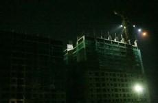 Tạm ngừng thi công công trình bị sập giàn giáo khu Thanh Hà Cienco 5