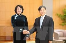 Phó Chủ tịch nước gặp gỡ các thành viên Hoàng gia Nhật Bản