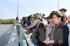 Các đại biểu IPU thực địa về tác động của biến đổi khí hậu ở Cần Giờ