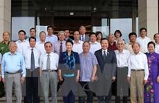 Chủ tịch Quốc hội gặp đoàn Ban Thường vụ Tỉnh ủy Yên Bái các thời kỳ