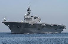 Tàu sân bay Izumo của Nhật Bản chuẩn bị đi qua khu vực Biển Đông