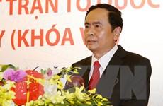 Tân Chủ tịch Mặt trận Tổ quốc Việt Nam trả lời phỏng vấn báo chí