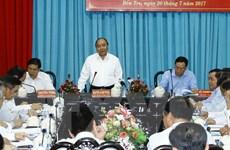 Thủ tướng Nguyễn Xuân Phúc làm việc với cán bộ chủ chốt tỉnh Bến Tre
