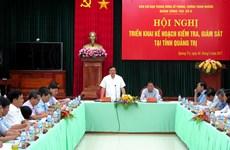 Ban chỉ đạo TW về phòng, chống tham nhũng làm việc tại Quảng Trị