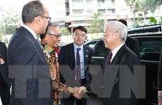 Tổng Bí thư tiếp đoàn đại biểu Hội Hữu nghị Indonesia-Việt Nam