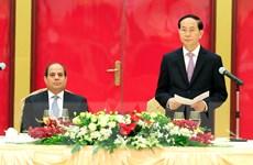 Chủ tịch nước Trần Đại Quang chiêu đãi trọng thể Tổng thống Ai Cập