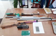 Phát hiện nhiều súng hơi cồn bắn đạn bi sắt ở Ninh Thuận