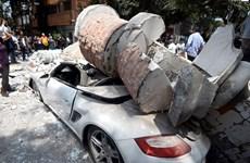 Hình ảnh hiện trường hỗn loạn sau trận động đất kinh hoàng ở Mexico