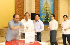 Thủ tướng quyên góp hỗ trợ đồng bào bị thiệt hại do bão số 10