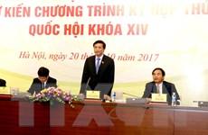 Kỳ họp thứ 4, Quốc hội khóa XIV sẽ khai mạc vào ngày 23/10
