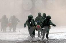 TP Hồ Chí Minh diễn tập ứng phó với sự cố rò rỉ hóa chất độc hại