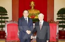 Tổng Bí thư tiếp Phó Thủ tướng Lào Sonexay Siphandone
