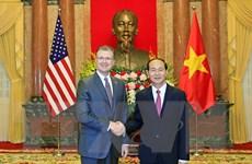 Chủ tịch nước Trần Đại Quang tiếp tân Đại sứ Hoa Kỳ Kritenbrink