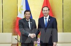 Chủ tịch nước Trần Đại Quang gặp song phương Tổng thống Philippines