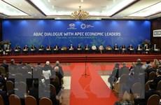 Hình ảnh phiên toàn thể đối thoại giữa lãnh đạo APEC với ABAC