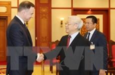 Tổng Bí thư Nguyễn Phú Trọng tiếp Tổng thống Cộng hòa Ba Lan