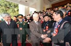 Tổng Bí thư gặp mặt thân mật các đại biểu dân tộc thiểu số tiêu biểu