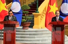 Lãnh đạo Việt Nam, Lào họp báo bế mạc Năm Đoàn kết Hữu nghị 2017