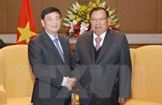 Tổng Bí thư Lào tiếp đoàn đại biểu Hội Hữu nghị Việt Nam-Lào