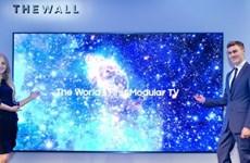 """CES: Samsung gây choáng ngợp với mẫu tivi LED """"Bức tường"""" khổng lồ"""