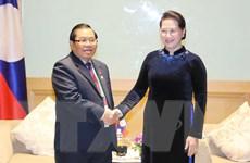 Chủ tịch Quốc hội tiếp các lãnh đạo Quốc hội của Lào và Maroc