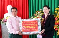 Chủ tịch Quốc hội Nguyễn Thị Kim Ngân chúc Tết huyện Thạch Hà, Đức Thọ