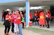 Bà con người Việt tại Macau tập trung cổ vũ cho đội tuyển U23 Việt Nam