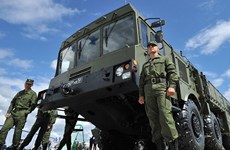 Quân đội Nga triển khai tên lửa Iskander tại Kaliningrad