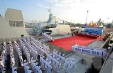 [Video] Lễ thượng cờ hai tàu hộ vệ tên lửa Trần Hưng Đạo, Quang Trung