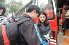 Ấm áp chuyến xe nghĩa tình đưa công nhân Thủ đô về quê đón Tết