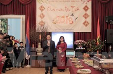 Đầm ấm không khí tết cổ truyền của cộng đồng người Việt Nam tại Nga