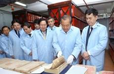Phó Thủ tướng thăm cơ quan lưu trữ 30km tài liệu báu vật quốc gia