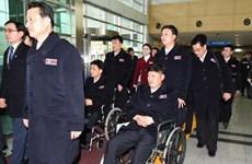 Đoàn thể thao Triều Tiên tham dự Paralympic tới Hàn Quốc