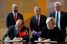 Australia, Timor Leste ký hiệp ước lịch sử phân định ranh giới biển