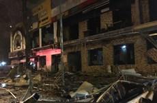 Khám nghiệm hiện trường, điều tra nguyên nhân vụ nổ nhà hàng ở Nghệ An