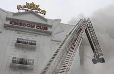 Hình ảnh hiện trường vụ cháy quán karaoke lớn nhất Hà Tĩnh