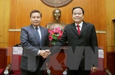 Thắt chặt mối quan hệ giữa hai tổ chức mặt trận Việt Nam-Lào