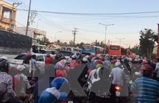 TP Hồ Chí Minh: Người dân ùn ùn đổ về sau nghỉ lễ, phà Cát Lái quá tải