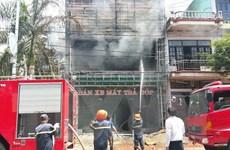 Dập tắt đám cháy lớn tại siêu thị điện máy ở Quảng Ninh