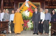 Chủ tịch Mặt trận Tổ quốc Việt Nam chúc mừng Đại lễ Phật đản