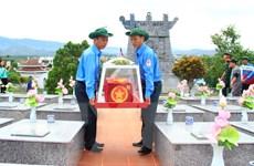 Kon Tum truy điệu, an táng hài cốt liệt sỹ hy sinh tại Lào, Campuchia