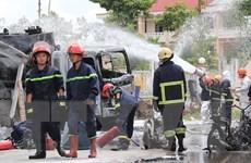 Xe bồn tiếp nhiên liệu bất ngờ phát hỏa, tài xế bị bỏng nặng