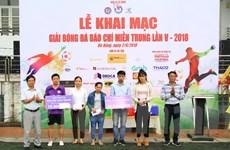 Tổng kết, trao Giải bóng đá Báo chí miền Trung lần thứ V - 2018