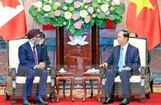 Chủ tịch nước Trần Đại Quang tiếp Bộ trưởng Bộ Quốc phòng Canada