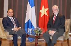Thủ tướng Nguyễn Xuân Phúc tiếp Thủ hiến bang Québec của Canada
